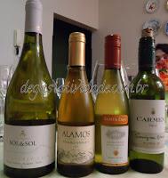 Degustação de Vinhos Brancos