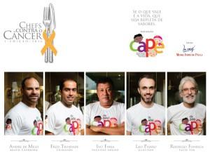 Chefs contra o câncer – CAPE – Jantar a 10 mãos