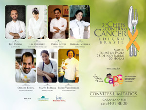 Chefs contra o câncer – CAPE – 2a. Edição
