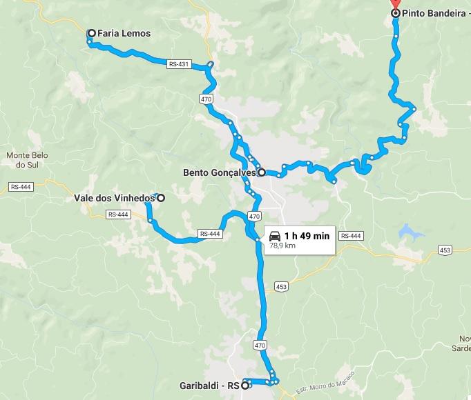 mapa vinhedos